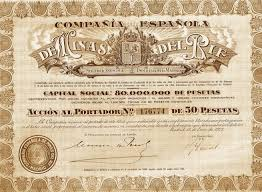 Old Share Title of Spanish Co.